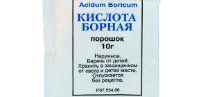 Utilisation d'acide borique contre les cafards