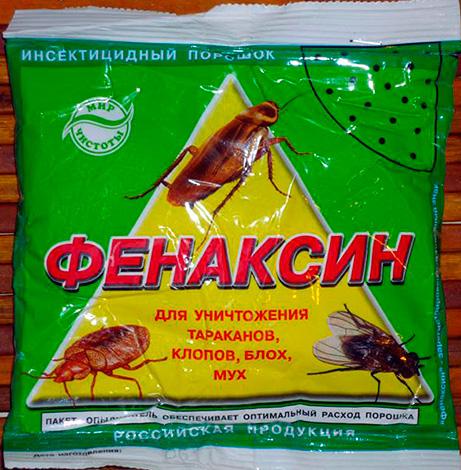 Insecticide en poudre contre les cafards, les punaises, les mouches et les puces Fenaksin