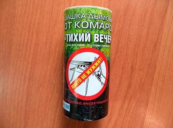 Bombe à fumée périmétrique pour insectes Silent Evening - bien qu'il soit positionné comme répulsif contre les moustiques, il est également très efficace contre les cafards.