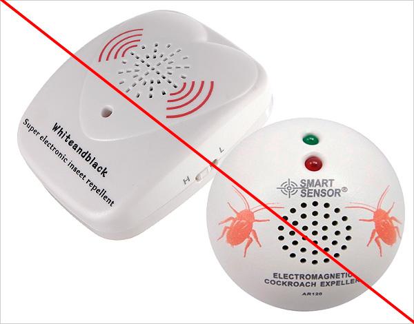 Comme le montre la pratique, divers agents d'effarouchement par ultrasons et par résonance magnétique sur les blattes n'ont pratiquement aucun effet.