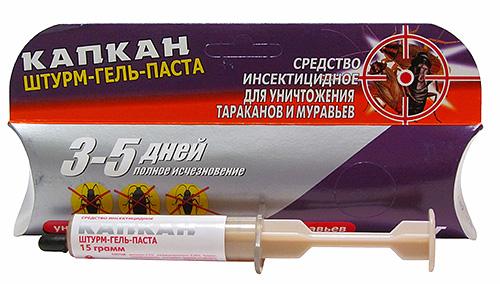 Gel Sturm n'est pas aussi connu que Globol, mais il est également très efficace contre les insectes.