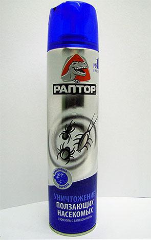 Aerosol Raptor pour les insectes rampants est également efficace contre les puces.