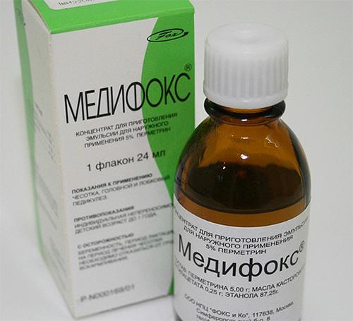 Medifox contient un puissant insecticide et ne doit pas être utilisé pour éliminer les poux chez les enfants.