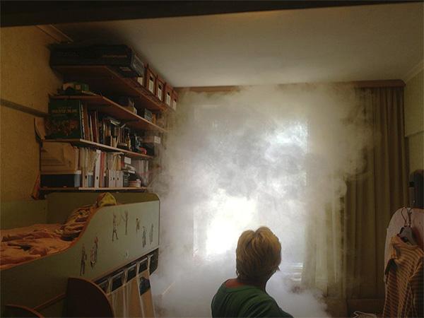 La fumée insecticide des dames envahit toutes les pièces de l'appartement, détruisant les insectes même dans les endroits les plus isolés.