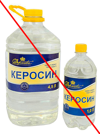 Il est strictement déconseillé d'utiliser du kérosène et d'autres liquides inflammables dans la lutte contre les insectes dans l'appartement.