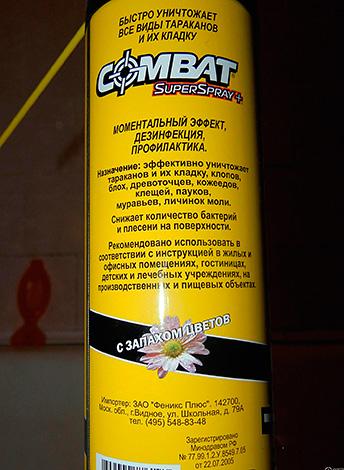 Aérosol insectifuge Combat SuperSpray