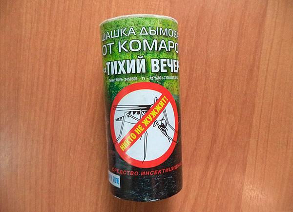 Bombe fumigène insecticide de moustiques Quiet Evening (à base de perméthrine).