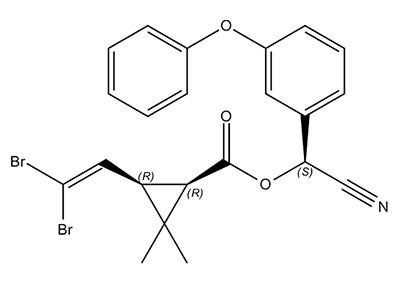 Deltaméthrine - formule chimique