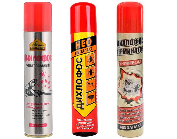 Aujourd'hui, les aérosols insecticides vendus sous le nom commercial de Dichlorvos sont fondamentalement différents de la drogue soviétique du même nom.
