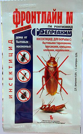 Front Line M - poudre pour lutter contre les cafards, les fourmis domestiques, les acariens et les punaises de lit.