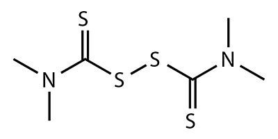 Thiurame (disulfure de tétraméthylthiurame) - formule chimique