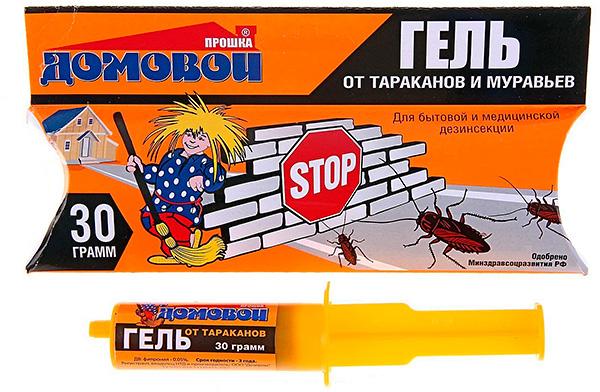 Gel de cafards et de fourmis Brownie Proshka, une seringue pour 30 grammes.