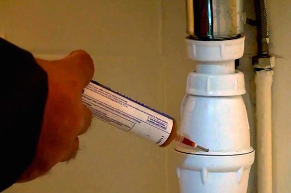 Exemple d'application d'une seringue ...