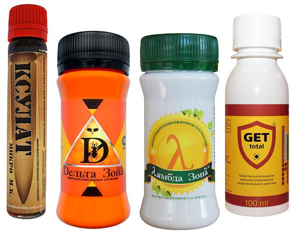 Insecticides microencapsulés à faible odeur.
