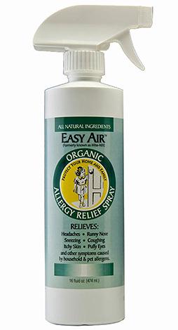 Easy Air Spray peut tuer les allergènes d'acariens présents dans la poussière.