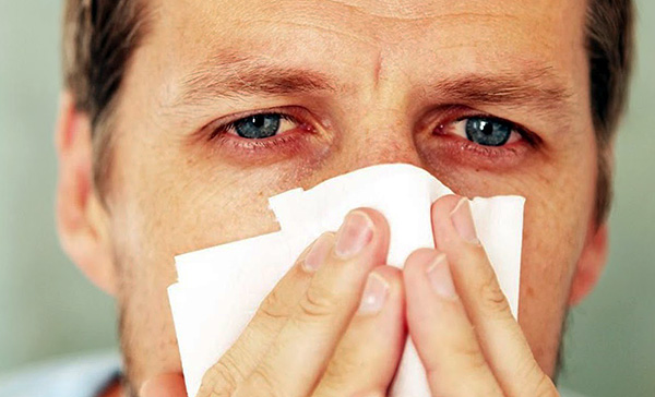 L'écoulement nasal, la congestion nasale et les larmoiements sont des symptômes typiques qui se produisent lorsqu'un allergène est exposé aux muqueuses des voies respiratoires supérieures et aux yeux.